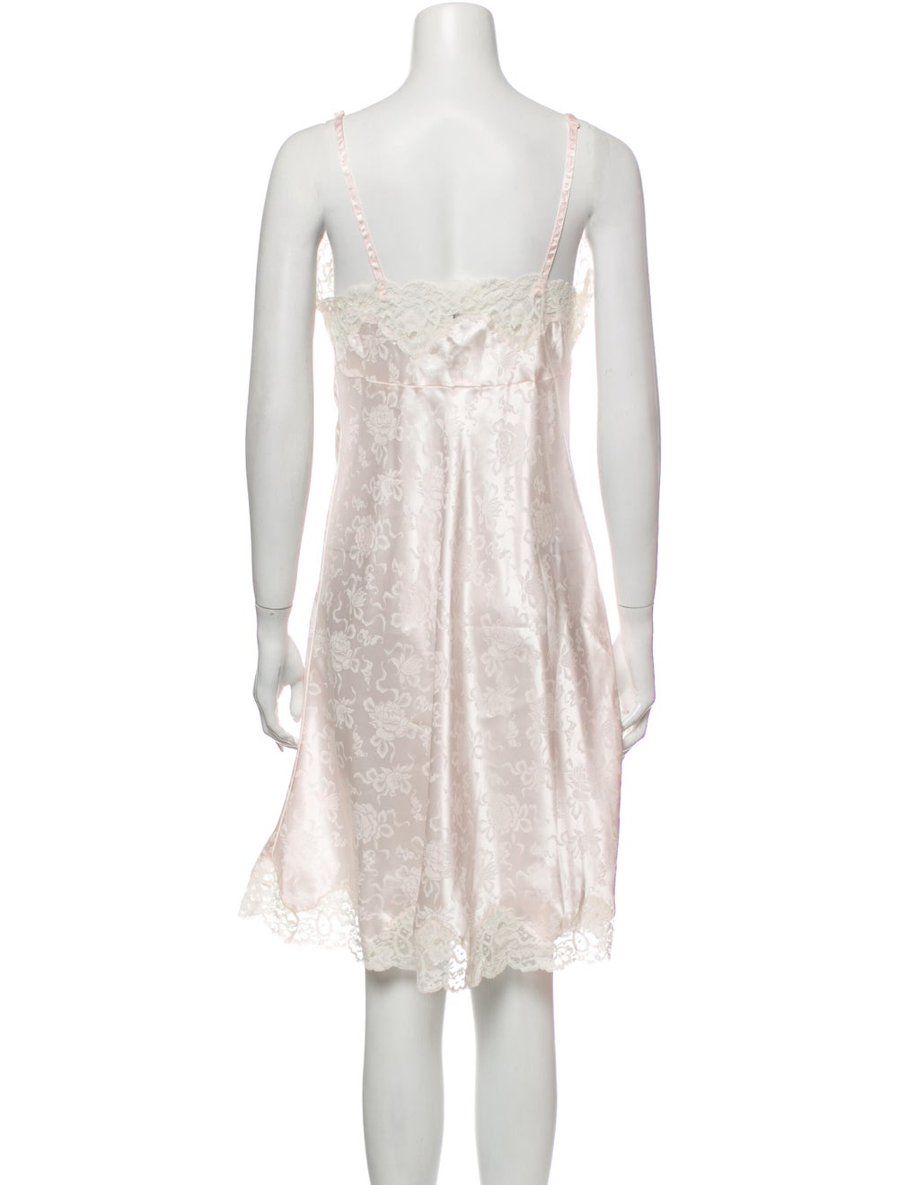 Christian Dior Vintage Floral Print Nightgown Pink - image 3