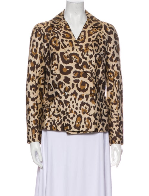 Christian Dior Animal Print Blazer