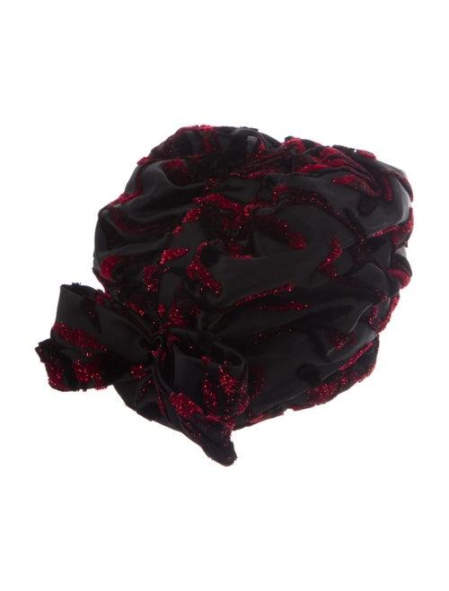 Christian Dior 1960's Tinsel Hat Black - image 1