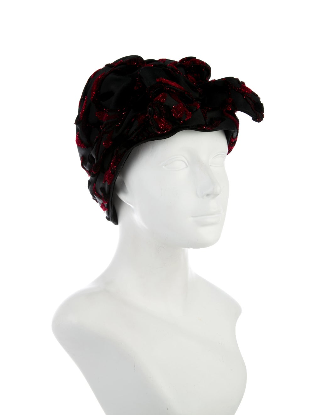 Christian Dior 1960's Tinsel Hat Black - image 3