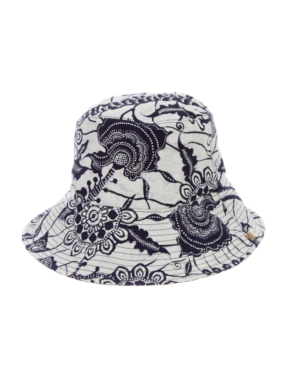Christian Dior Printed Canvas Bucket Hat Navy - image 1