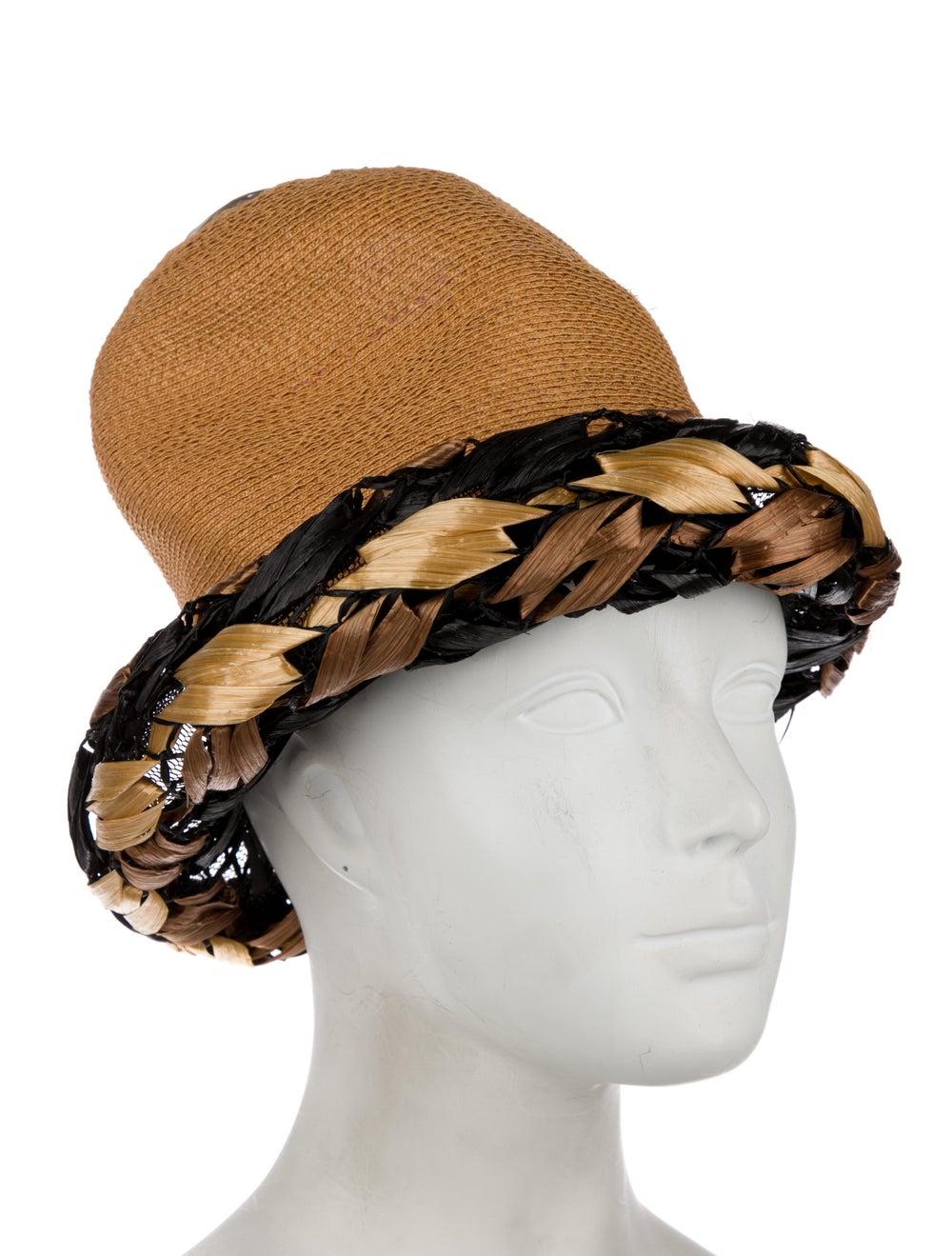 Christian Dior Vintage Straw Hat tan - image 3