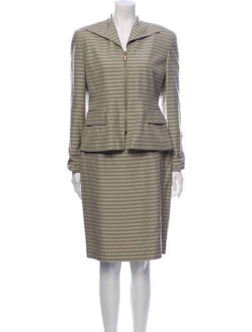 Christian Dior Vintage Striped Skirt Suit