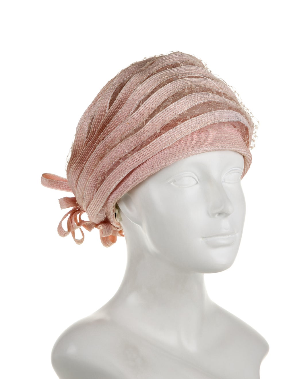 Christian Dior Lace Turban Hat Pink - image 3