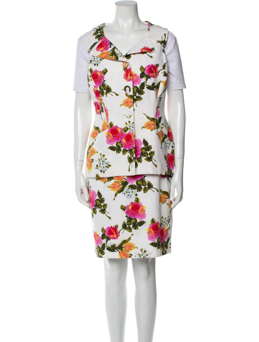 Christian Dior Vintage 1980's Skirt Set White - image 1