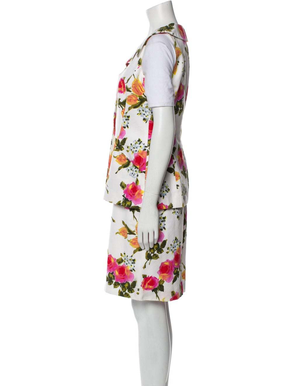 Christian Dior Vintage 1980's Skirt Set White - image 2