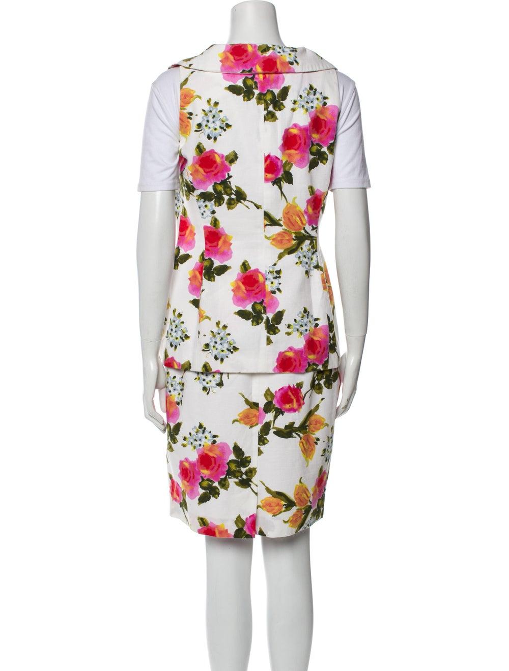 Christian Dior Vintage 1980's Skirt Set White - image 3