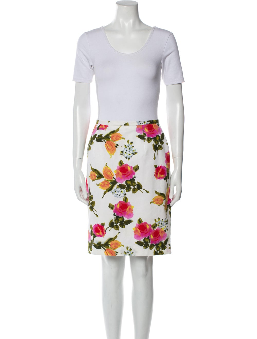 Christian Dior Vintage 1980's Skirt Set White - image 4
