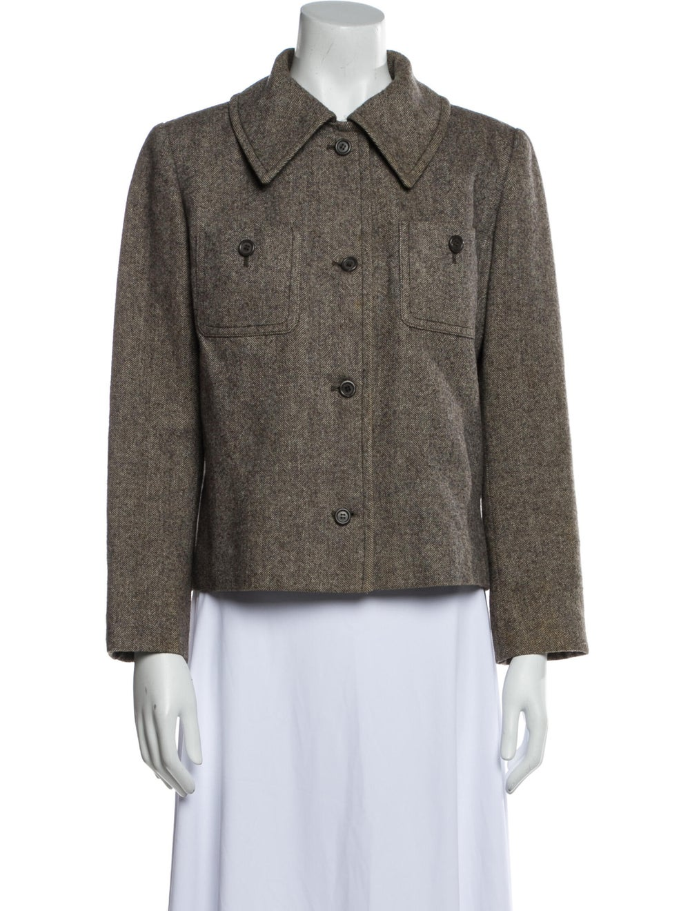 Christian Dior Vintage 1980's Blazer Brown - image 1