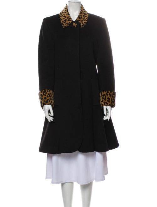 Christian Dior Vintage 1980's Coat Black - image 1