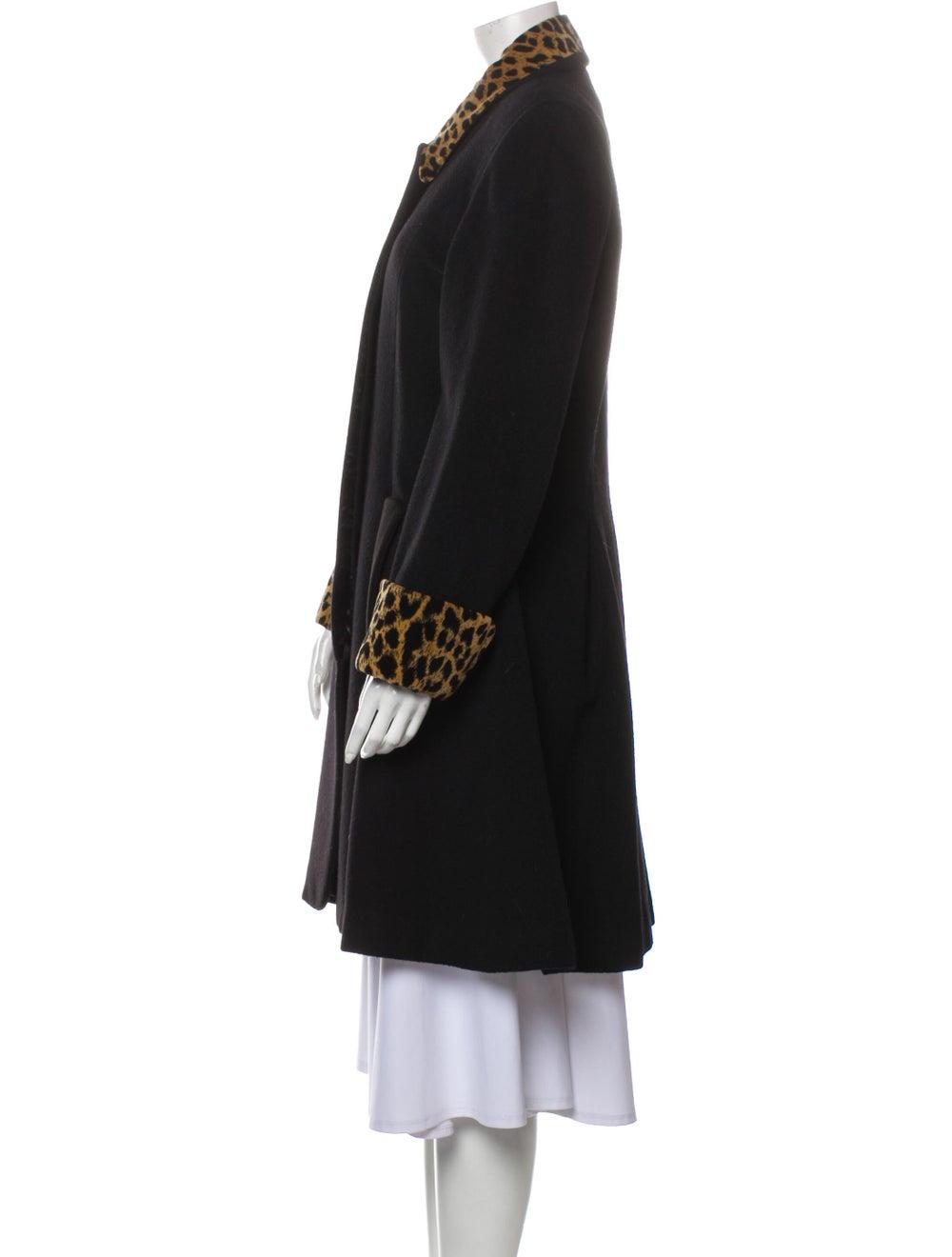 Christian Dior Vintage 1980's Coat Black - image 2