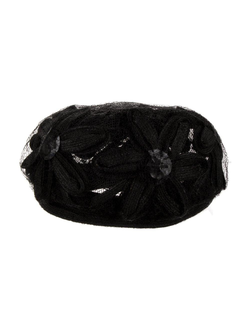 Christian Dior Lace Hat Black - image 1