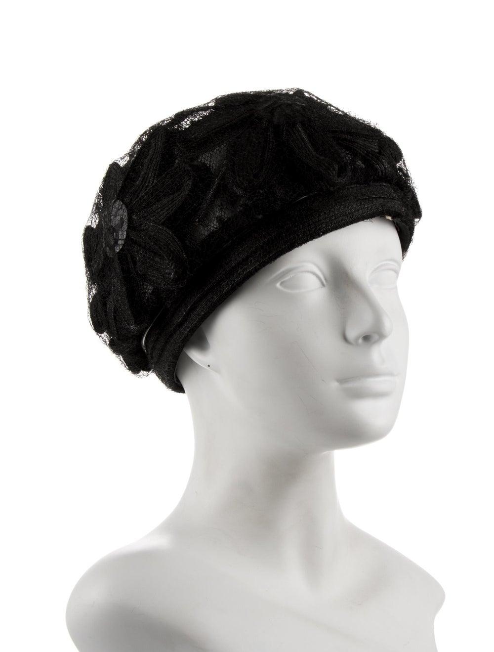 Christian Dior Lace Hat Black - image 3