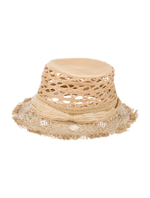 Christian Dior Jardin Raffia Hat Tan - image 1