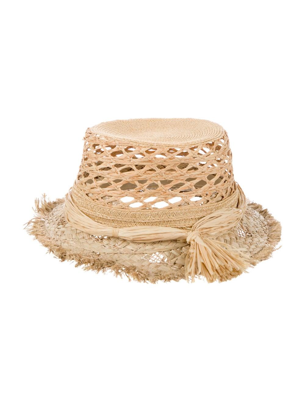 Christian Dior Jardin Raffia Hat Tan - image 2