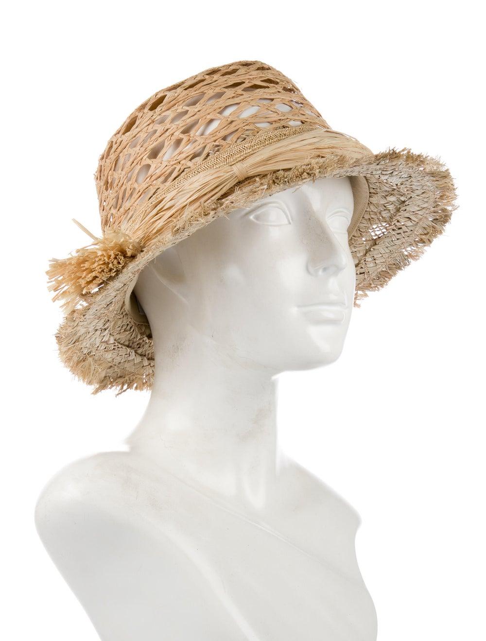 Christian Dior Jardin Raffia Hat Tan - image 3