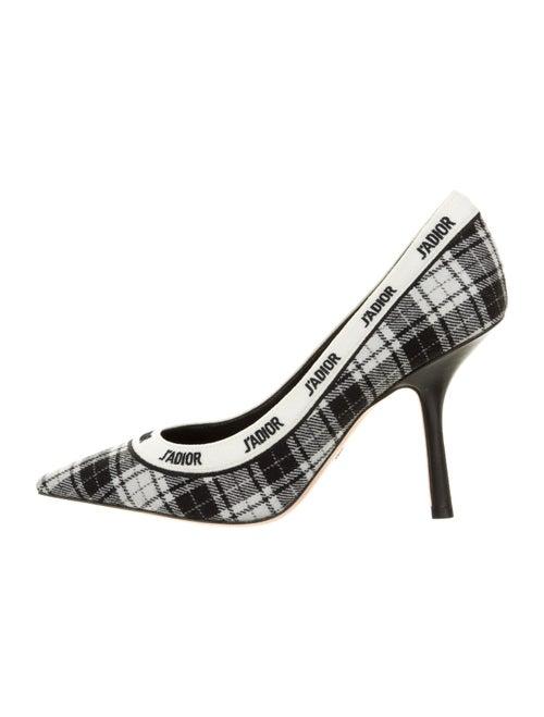 Christian Dior Tartan J'Adior Plaid Print Pumps Bl