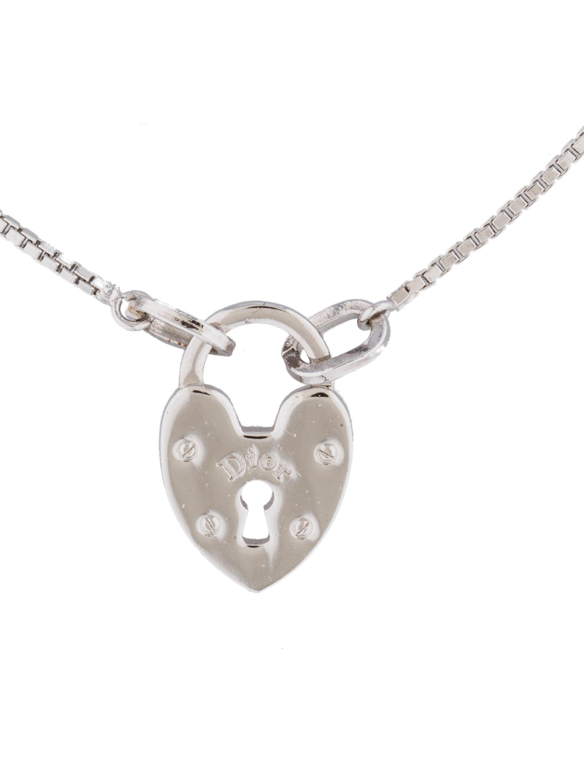 Christian Dior Heart Lock Charm Bracelet Bracelets CHR