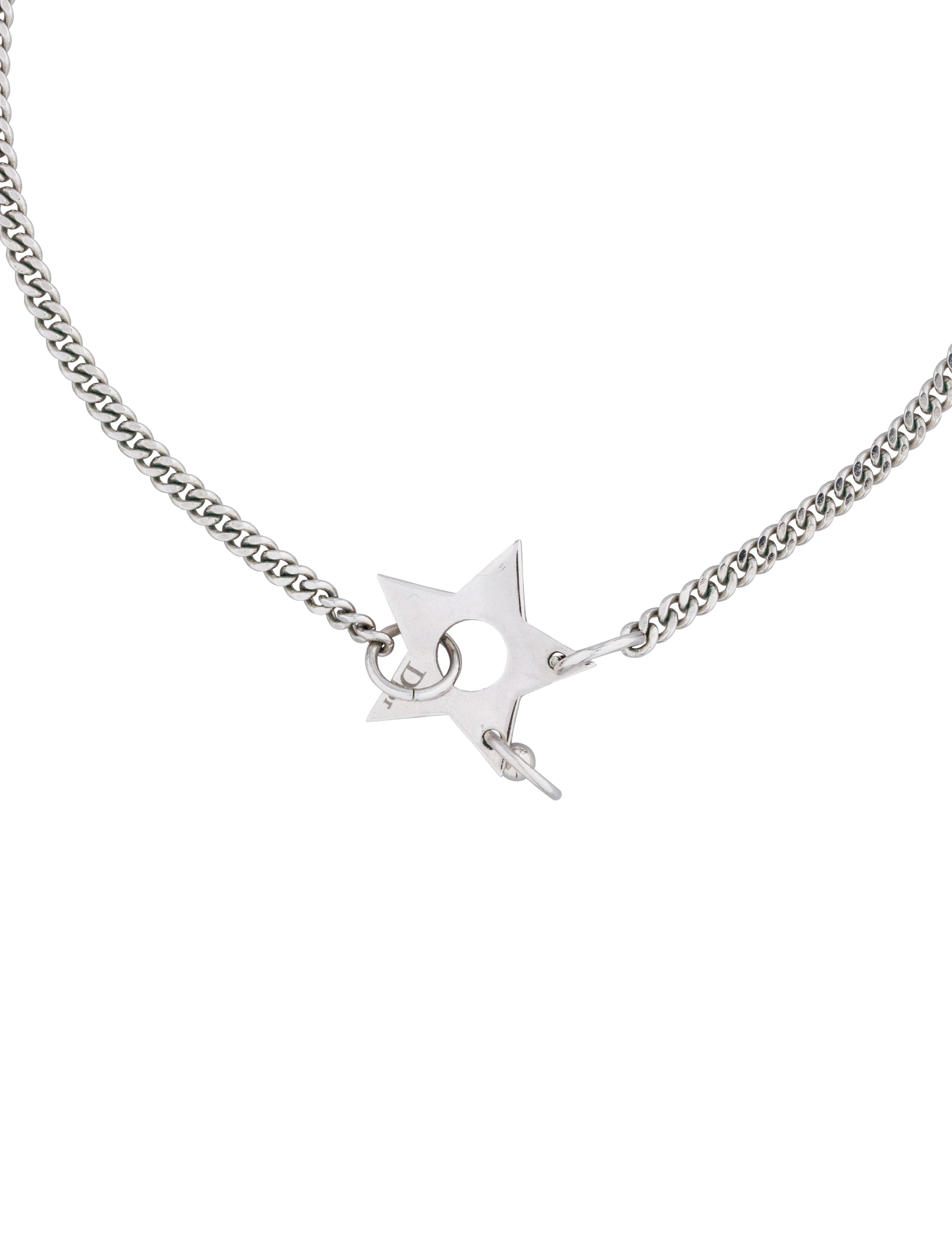 Christian Dior Star Pendant Necklace Necklaces CHR