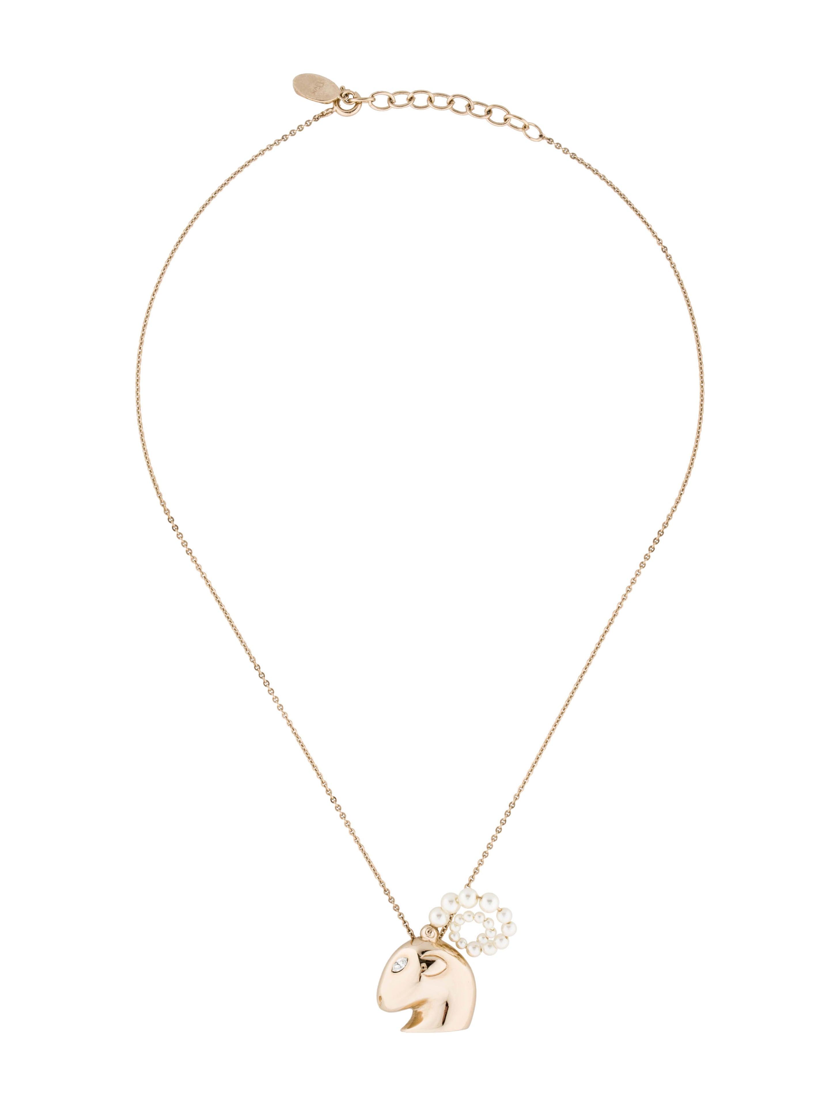 Christian dior tell me dior capricorn pendant necklace necklaces tell me dior capricorn pendant necklace aloadofball Choice Image