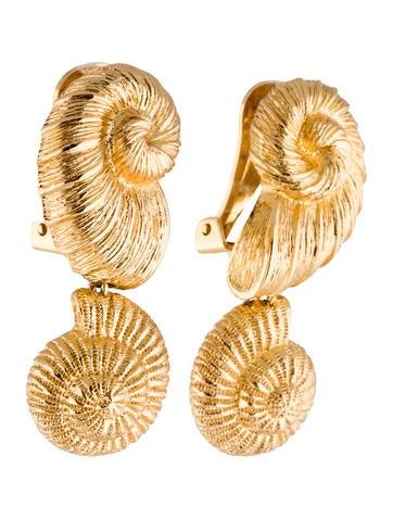 Seashell Clip-On Earrings