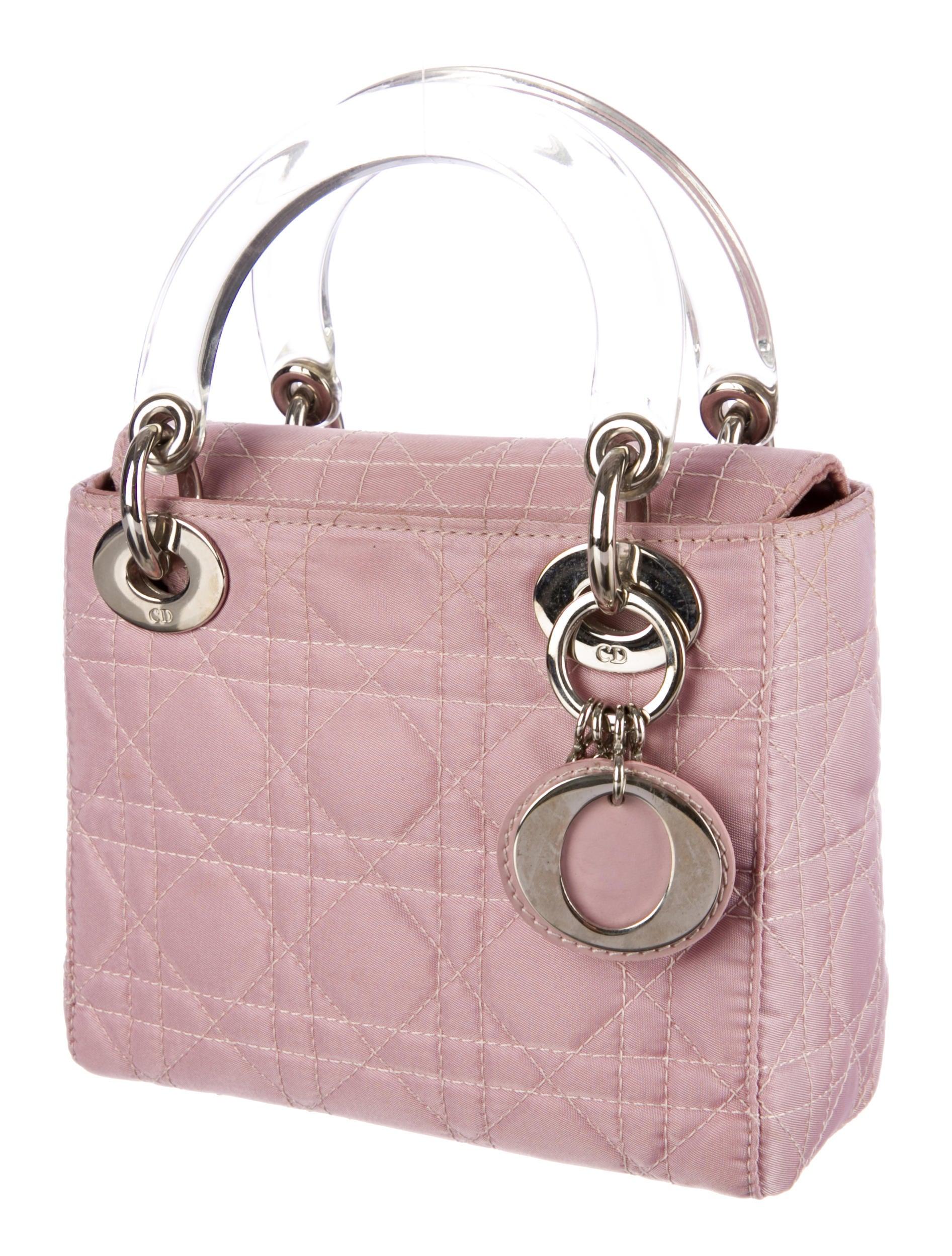 christian dior mini lady dior bag handbags chr33479 the realreal. Black Bedroom Furniture Sets. Home Design Ideas