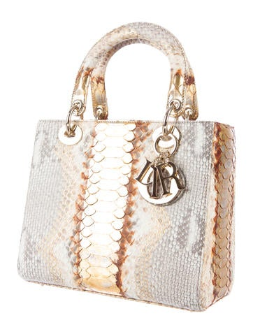 Python Medium Lady Dior Bag w/ Tags