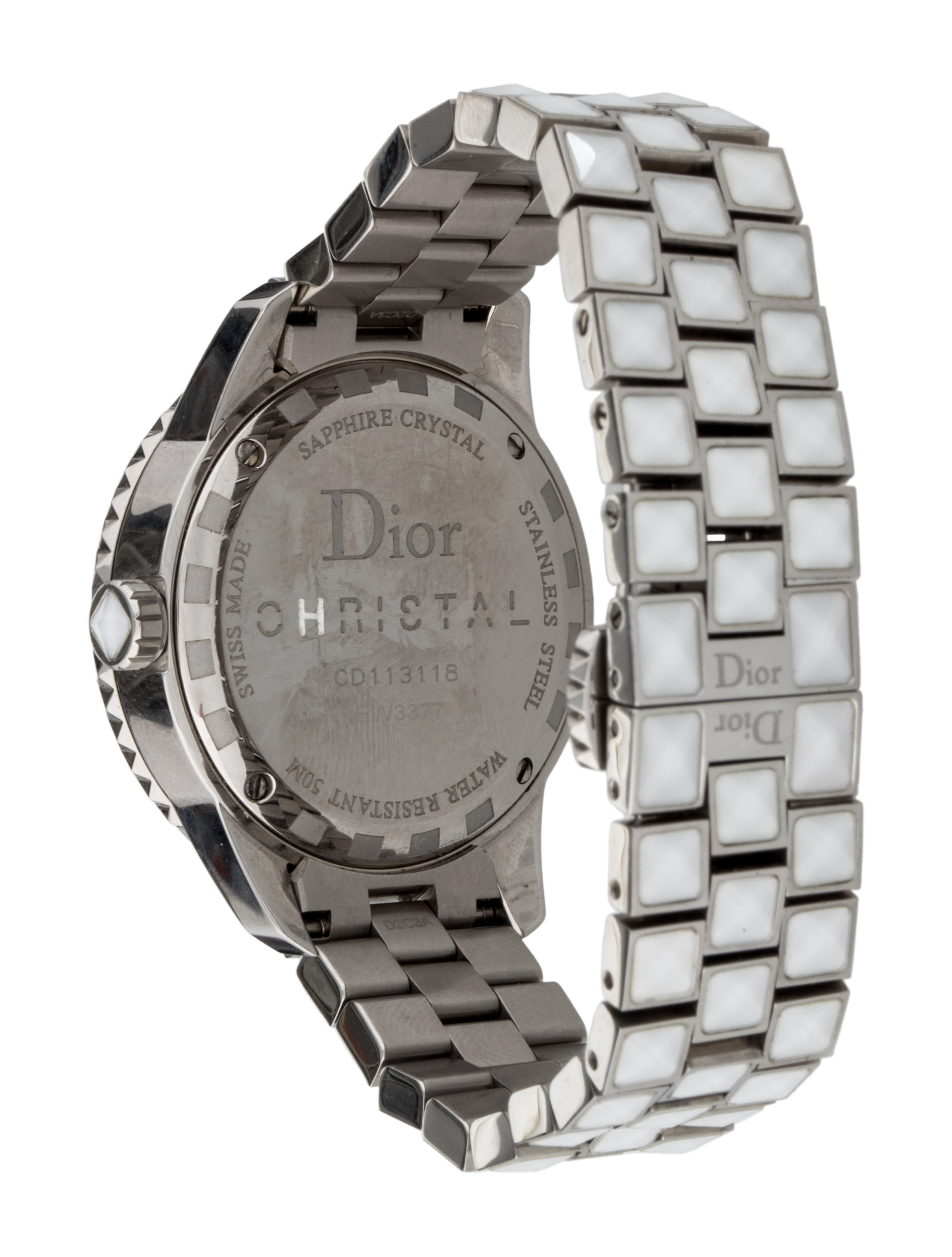 Christian dior christal watch bracelet chr33995 the realreal for Christian dior watches