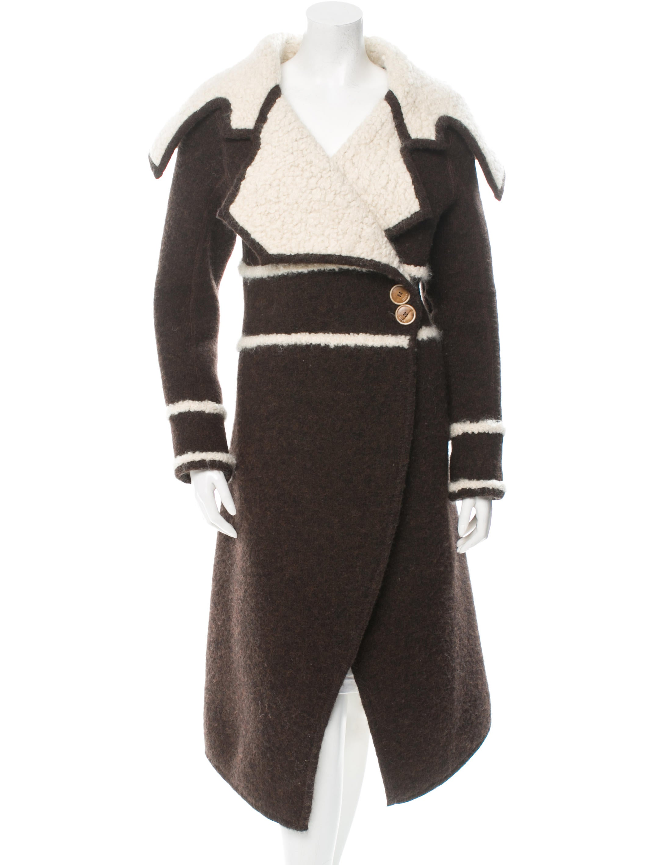 Christian Dior Shearling Coat - Clothing - CHR34307 | The RealReal