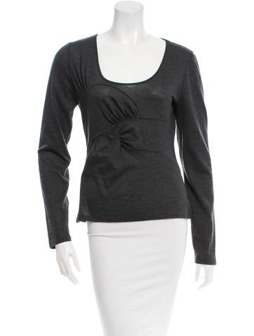 Christian Dior Long Sleeve Wool Top None