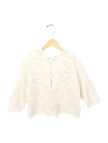 Christian Dior Girls' Hooded Knit Cardigan None