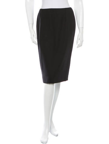 Christian Dior Wool Knee-Length Skirt None