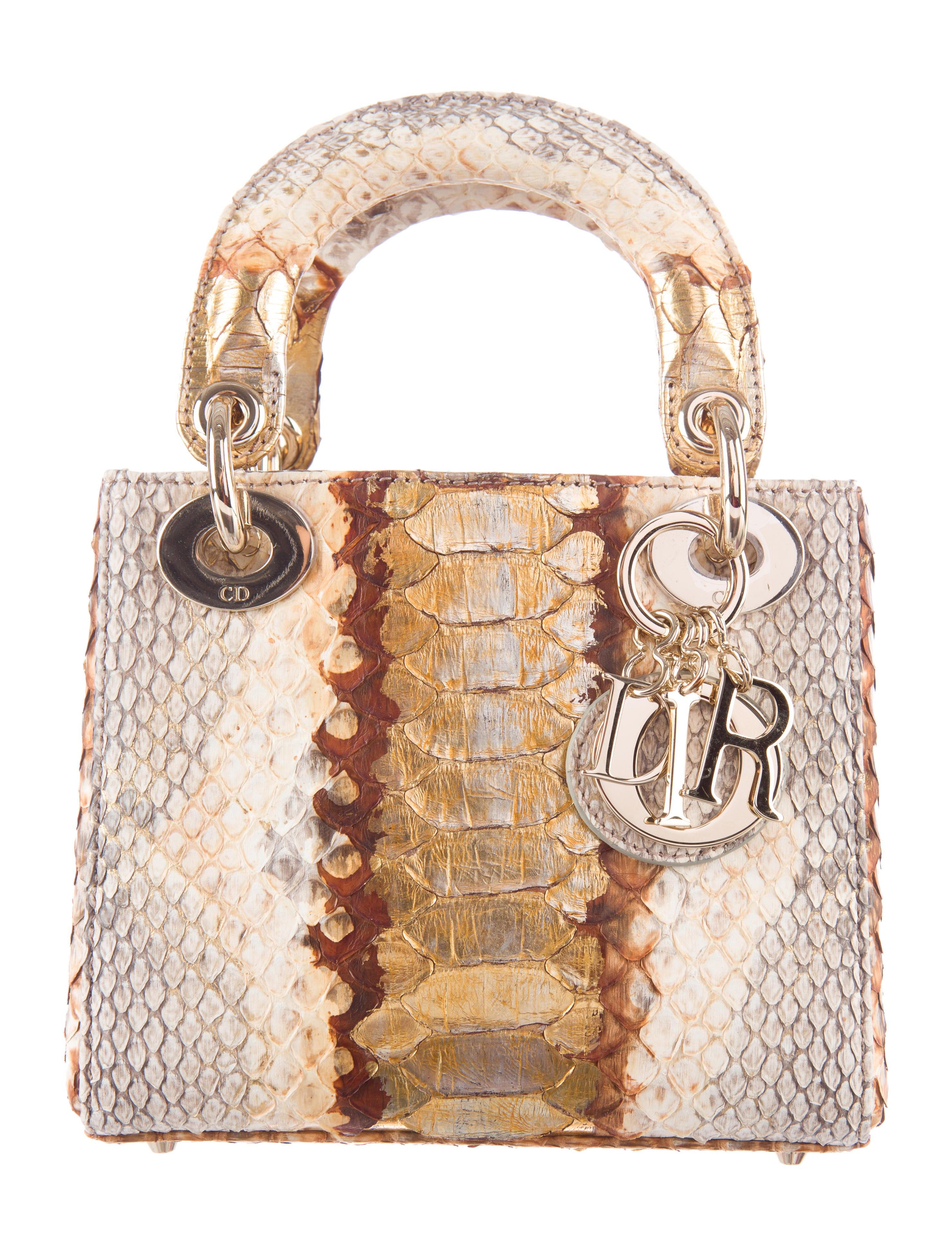 Christian Dior Mini Python Lady Dior - Handbags - CHR38377  c0f081a315819