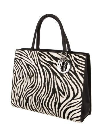 Ponyhair Zebra Print Tote