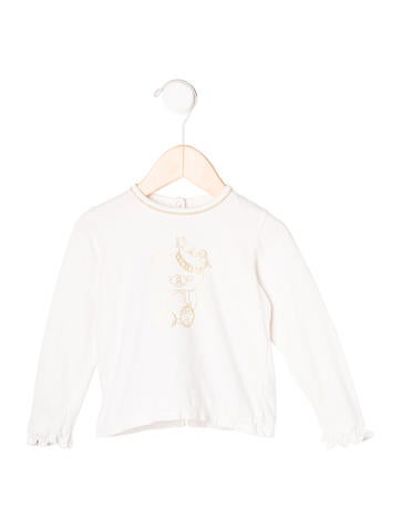 Christian Dior Girls' Printed Long Sleeve Top None