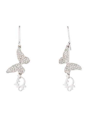 Butterfly Logo Drop Earrings
