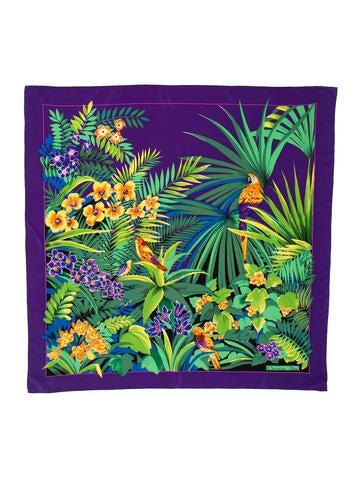 Silk Floral Scarf