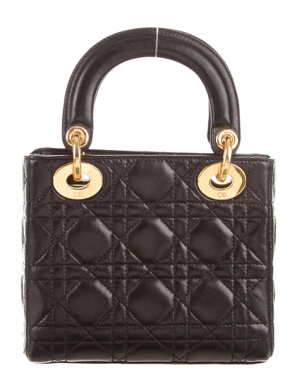 christian dior mini lady dior bag handbags chr39652 the realreal. Black Bedroom Furniture Sets. Home Design Ideas