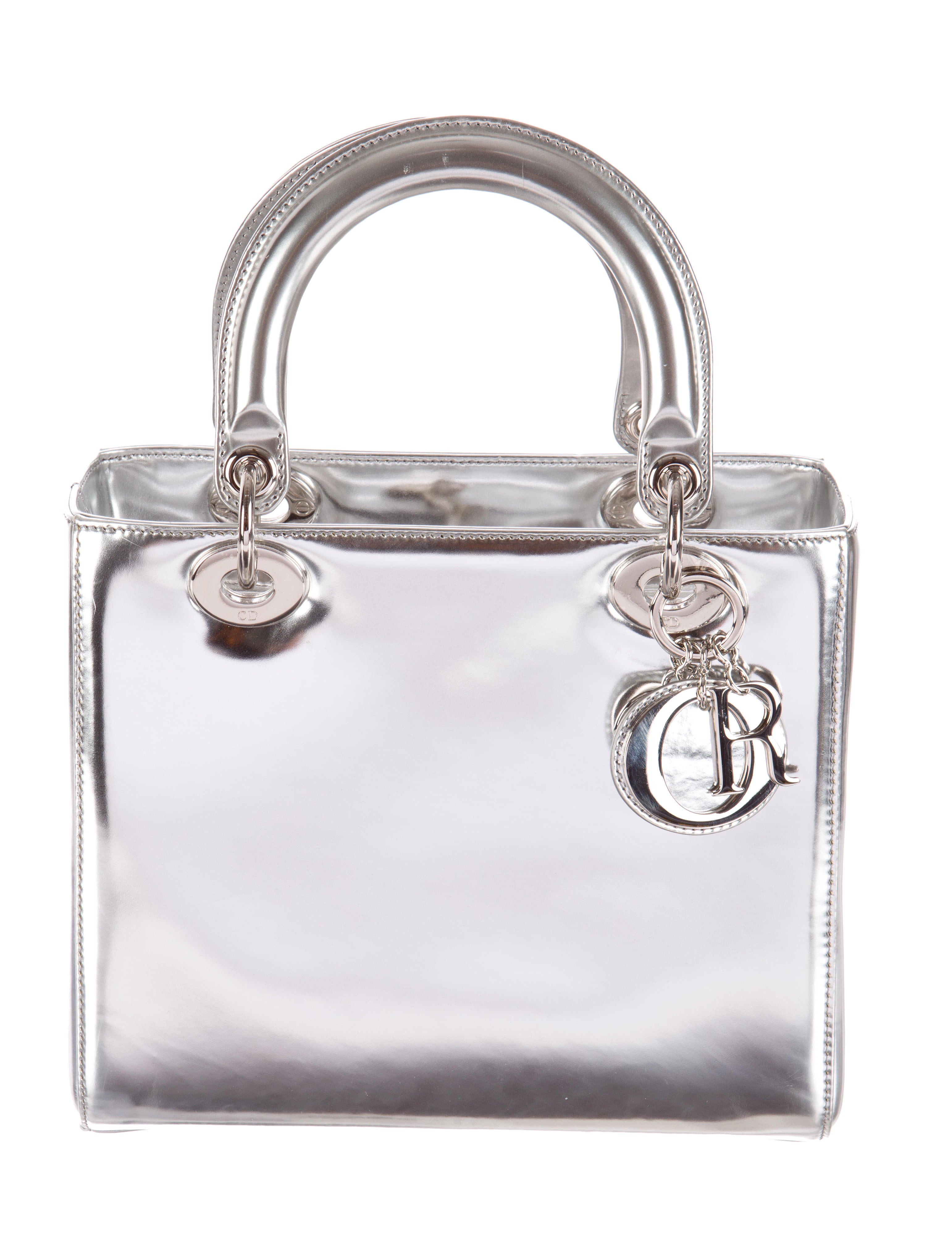 Christian Dior Metallic Medium Lady Dior Bag - Handbags ...