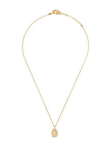 Crystal Teardrop Pendant Necklace