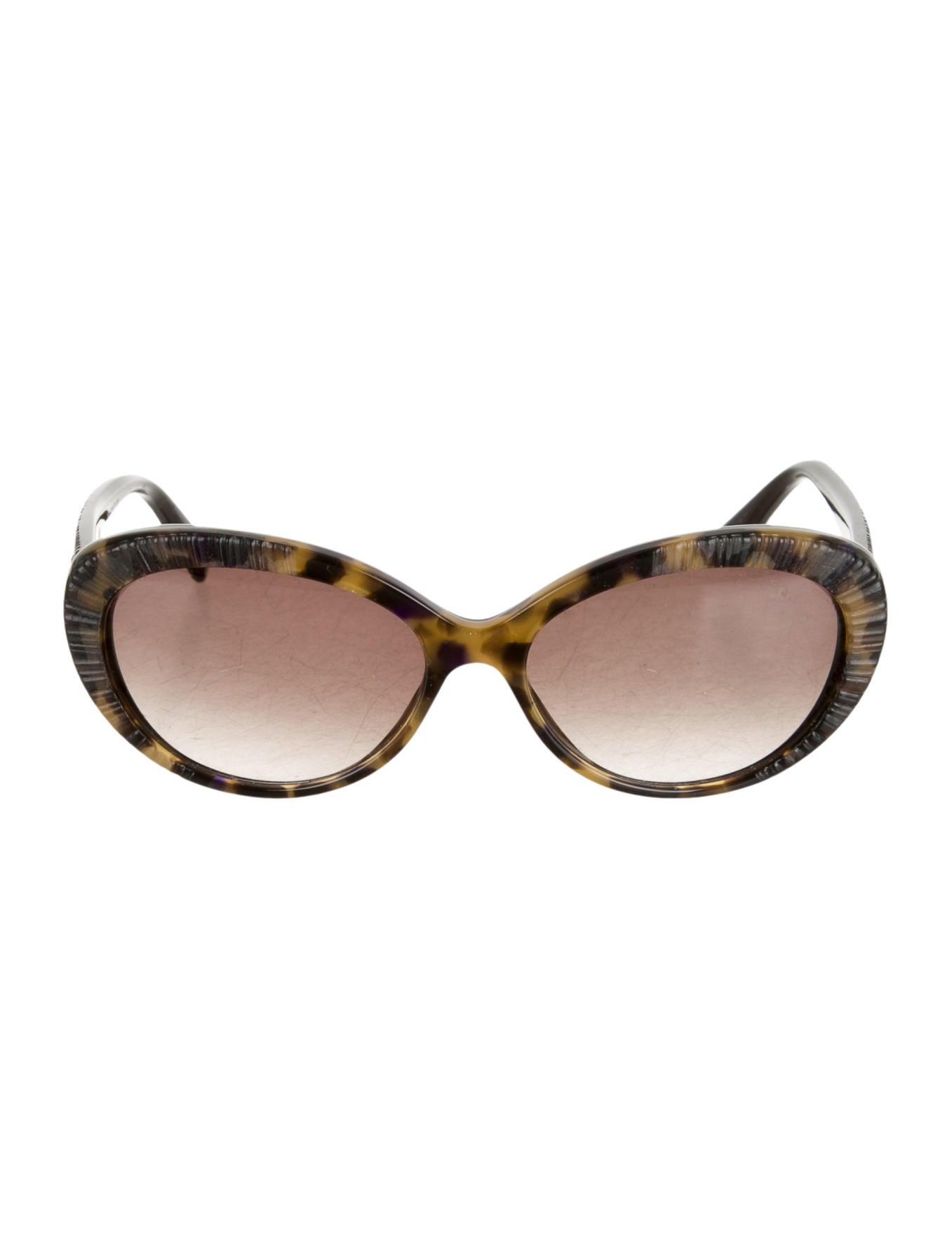 Textured Leopard Print Cat Eye Sungles Brown Hi Res