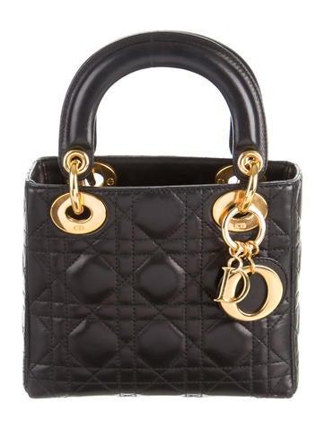 christian dior mini lady dior bag handbags chr41383 the realreal. Black Bedroom Furniture Sets. Home Design Ideas