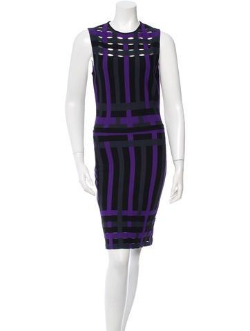 Christian Dior Striped Knit Dress None