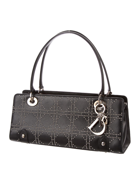 f5643de07c2bb1 Christian Dior Studded Cannage Petit Shopper Bag - Handbags - CHR41625 |  The RealReal