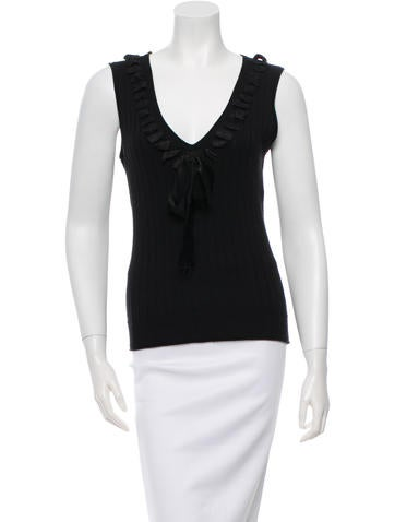 Christian Dior Wool Sleeveless Top None