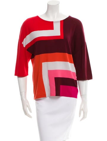Christian Dior Woop Three-Quarter Sleeve Top None