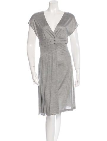Christian Dior Silk Midi Dress None