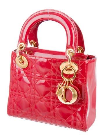christian dior mini lady dior handbags chr43493 the realreal. Black Bedroom Furniture Sets. Home Design Ideas
