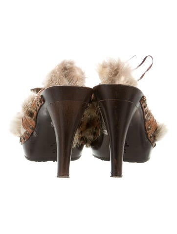 Fur Platform Clogs