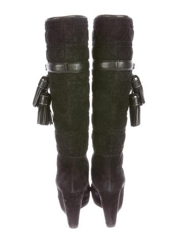 Suede Cannage Boots